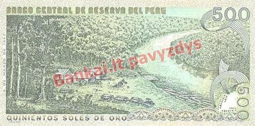 500 Soles  banknoto galinė pusė