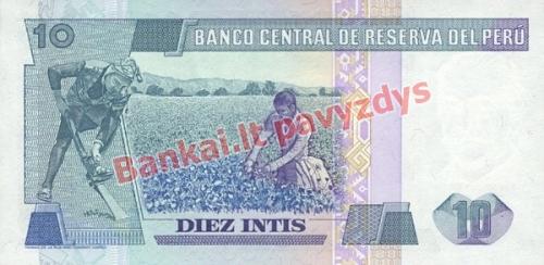 10 Inčių banknoto galinė pusė
