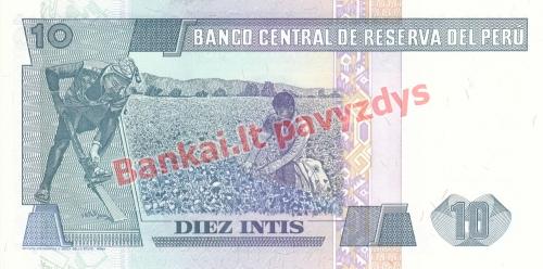 10 Intis  banknoto galinė pusė
