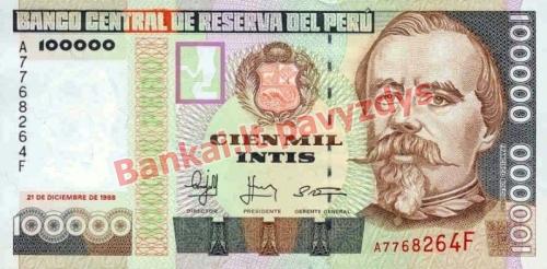 100000 Inčių banknoto priekinė pusė