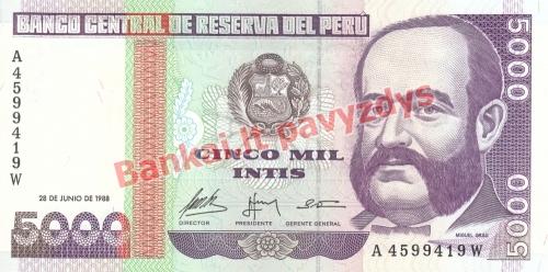 5000 Inčių banknoto priekinė pusė
