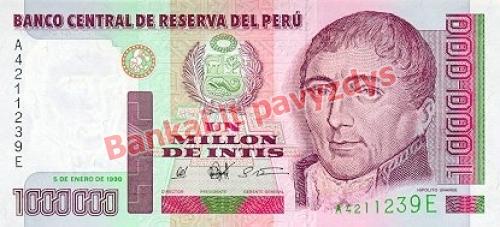 1000000 Inčių banknoto priekinė pusė