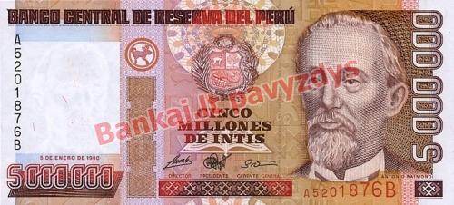 5000000 Inčių banknoto priekinė pusė