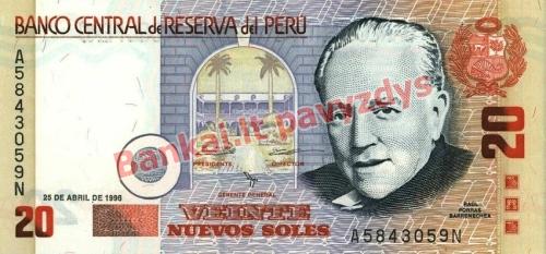 20 Nuevos  banknoto priekinė pusė