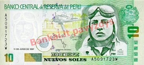 10 New Solių banknoto priekinė pusė
