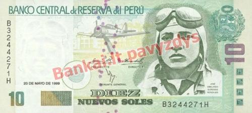 10 Nuevos  banknoto priekinė pusė