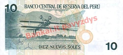 10 Nuevos  banknoto galinė pusė