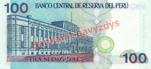 100 Naujųjų solių banknoto galinė pusė