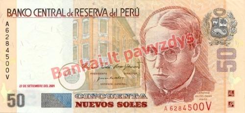50 Nuevos  banknoto priekinė pusė