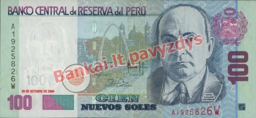 100 Naujųjų solių banknoto priekinė pusė