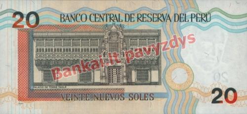 20 Naujųjų solių banknoto galinė pusė