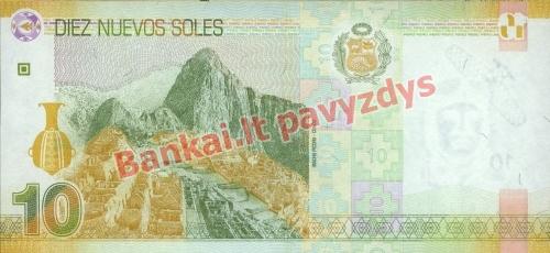 10 Naujųjų solių banknoto galinė pusė