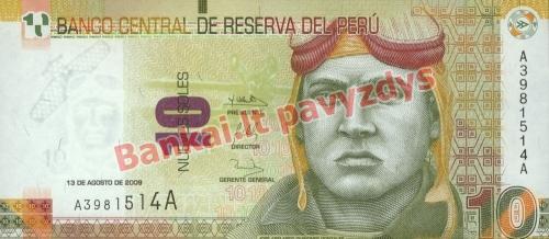 10 Naujųjų solių banknoto priekinė pusė