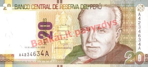 20 Naujųjų solių banknoto priekinė pusė