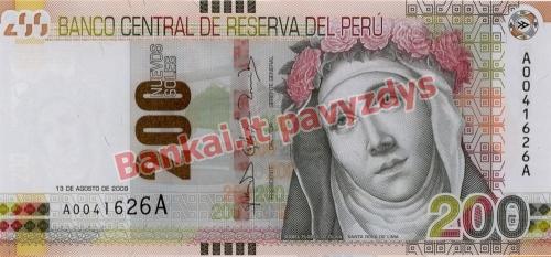 200 Naujųjų solių banknoto priekinė pusė