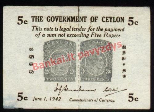 5 Centų banknoto priekinė pusė