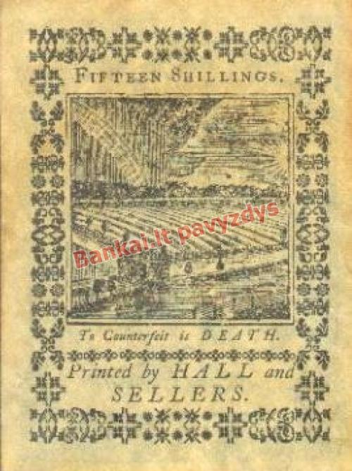 15 Šilingų banknoto galinė pusė