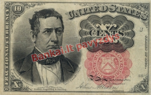 10 Centų banknoto priekinė pusė