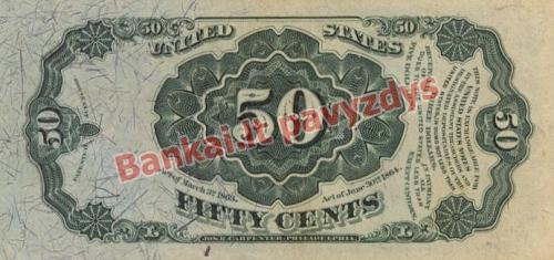 50 Centų banknoto galinė pusė