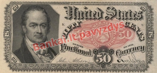 50 Centų banknoto priekinė pusė