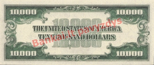 10000 Dolerių banknoto galinė pusė