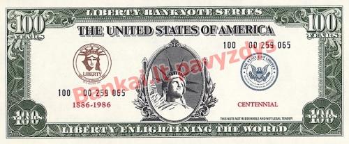 100 Metų banknoto priekinė pusė