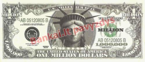 1000000 banknoto priekinė pusė