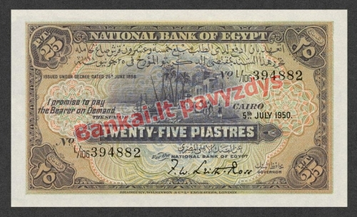 25 Piastrų banknoto priekinė pusė