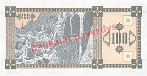 100 Larių banknoto galinė pusė