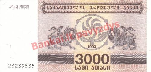 3000 Larių banknoto priekinė pusė