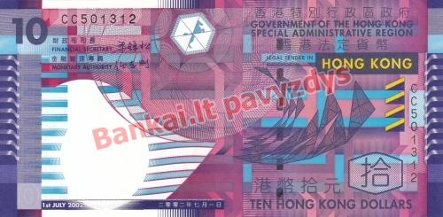 10 Dolerių banknoto priekinė pusė