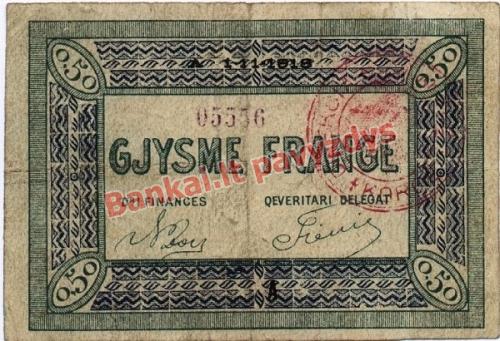 12 Frankų banknoto priekinė pusė