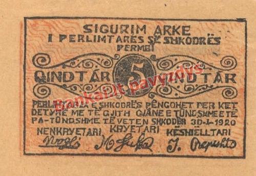 10 Kindtarų banknoto priekinė pusė