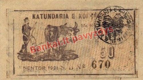50 Kintų banknoto priekinė pusė