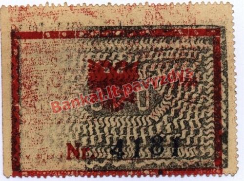 0.40 Frankų banknoto priekinė pusė
