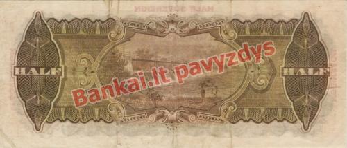 12 Sovereignų banknoto galinė pusė