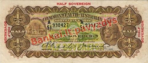 12 Sovereignų banknoto priekinė pusė