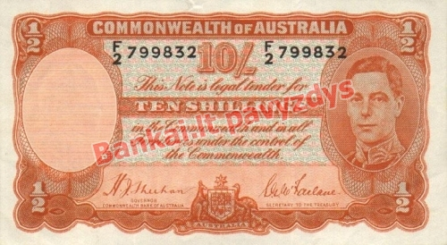 10 Šilingų banknoto priekinė pusė