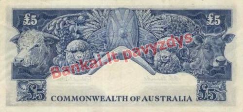 5 Svarų banknoto galinė pusė