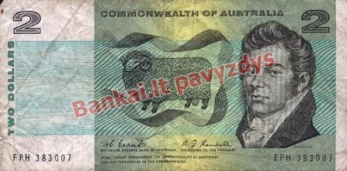 2 Dolerių banknoto priekinė pusė