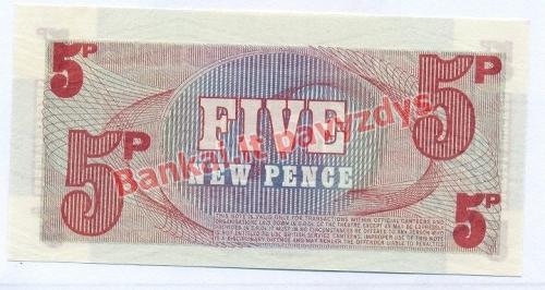 5 Naujųjų pencų banknoto galinė pusė