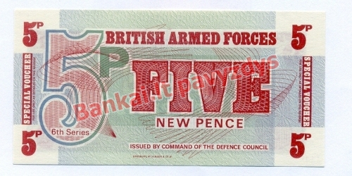 5 Naujųjų pencų banknoto priekinė pusė