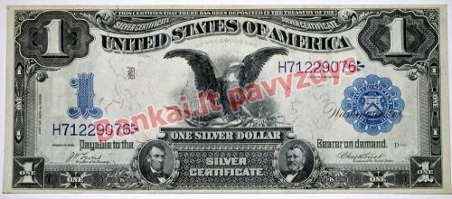 1 Dolerio banknoto priekinė pusė