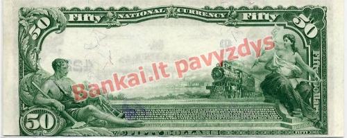 50 Dolerių banknoto galinė pusė