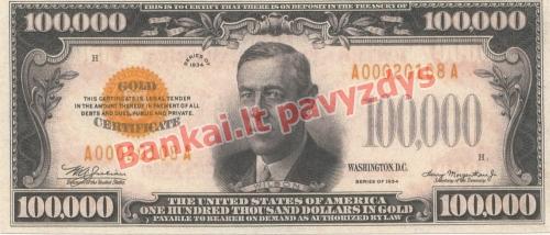 100000 Dolerių banknoto priekinė pusė