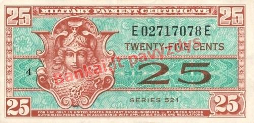 25 Centų banknoto priekinė pusė