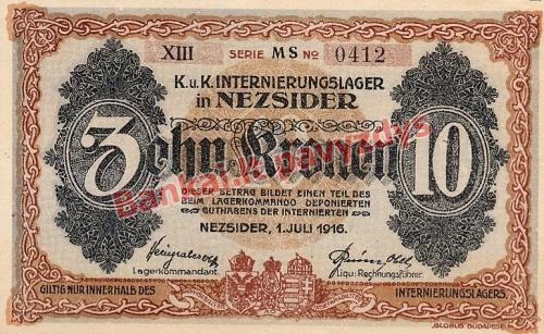 10 Koronų banknoto galinė pusė