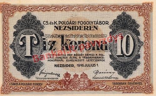 10 Koronų banknoto priekinė pusė