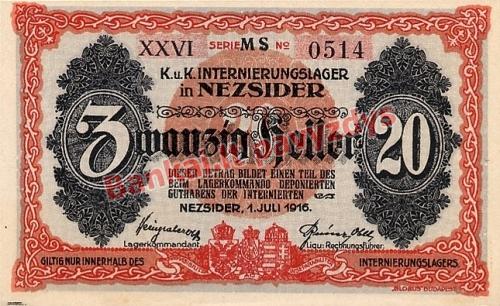 20 Filerių banknoto galinė pusė