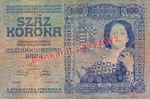 100 Koronų banknoto galinė pusė